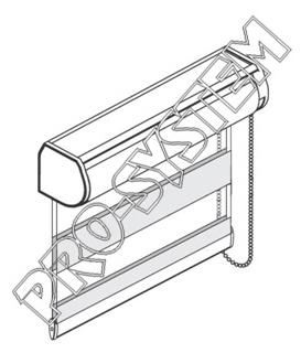 Roleta wewnętrzna w kasecie bez prowadnic RT