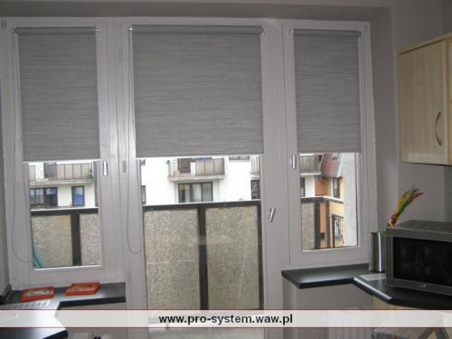 Rolety montowane na ramie okna  - system MINI