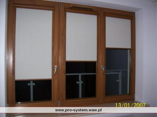 Kasetki i prowadnice w okleinie pod kolor stolarki okiennej